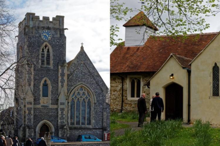 photo of both churches