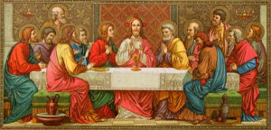old painting of last supper