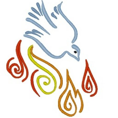 confirmation flame and dove